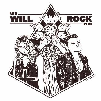 Female power ? My two favorite female singers teamed up in a cover of We Will Rock You and they
