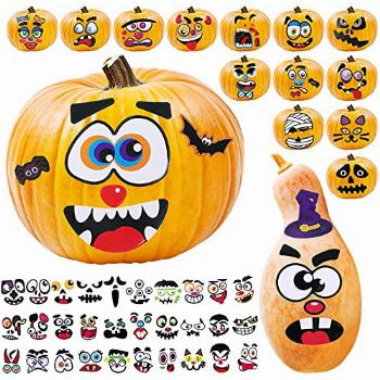 Large Halloween Pumpkin Stickers Decorations Party Favors