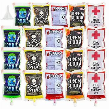 QINGQIU 20 Pack Halloween Blood Bags Cups Containers for