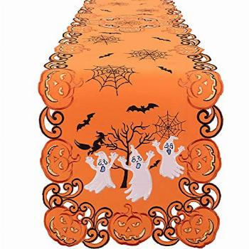 Simhomsen Embroidered Spooky and Scary Halloween Table