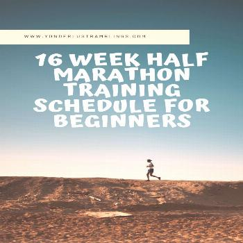 Tackle that first 13 miler with this 16 week half marathon training schedule for beginners!