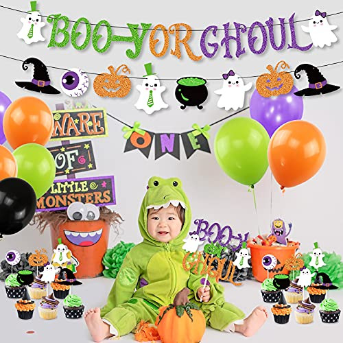 K KUMEED Halloween Gender Reveal Party Decoration Boo-y or